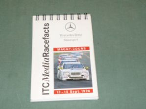 MERCEDES-BENZ ITC Media Race Facts Magny Cours 1996 (small notebook)